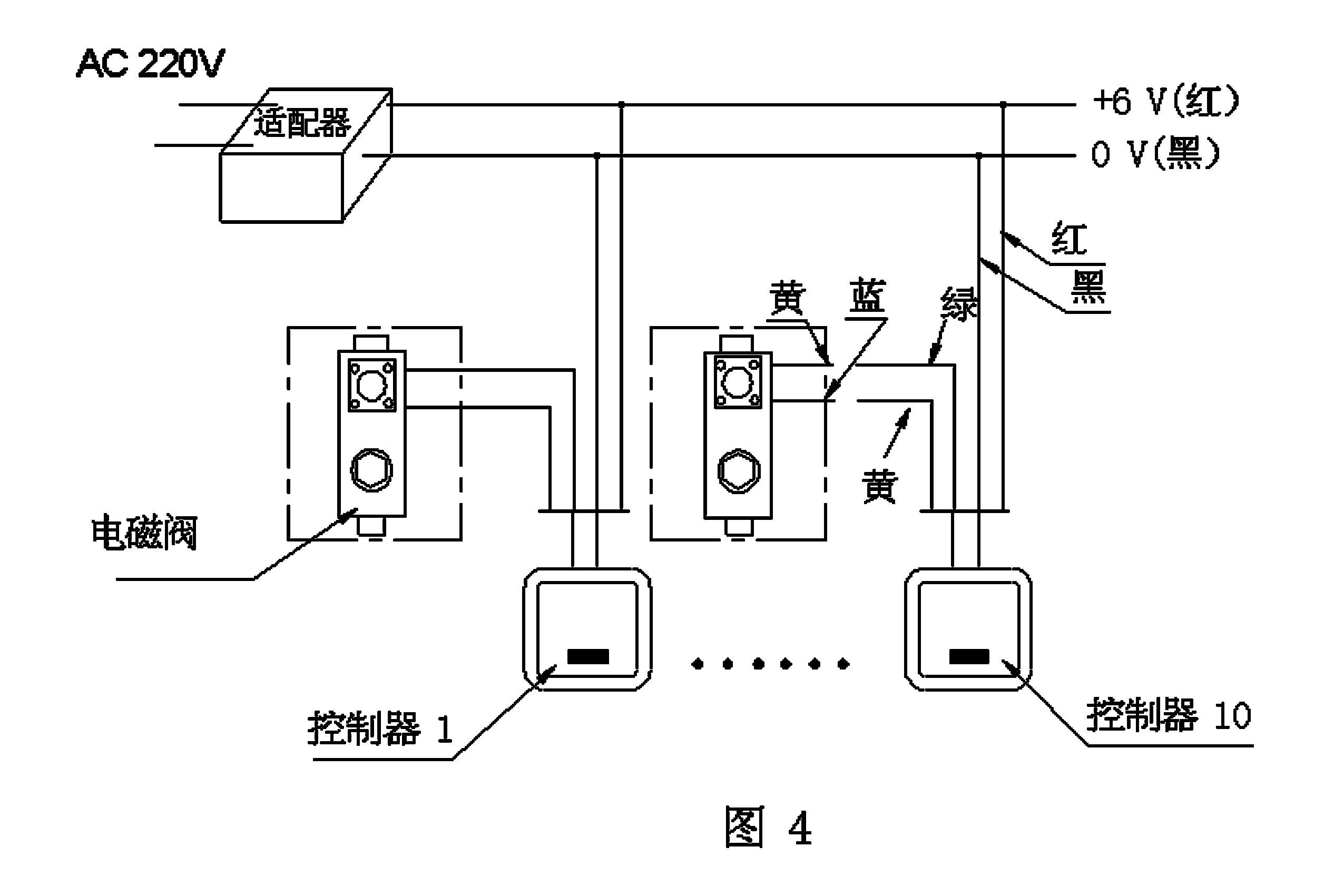 管道式感应控制器接线图(见图2)